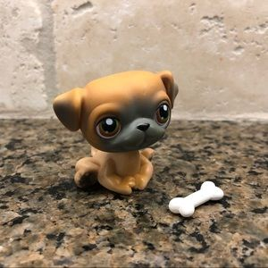 Lps Littlest Pet Shop Mocha Gray Pug Puppy Dog #2